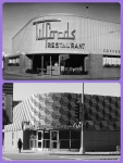 Tilford's Restaurant, circa 1949/Metro Customer Service Center, 2013. Top photo: Tilford's restaurant and cocktail lounge, located at the northwest corner of La Brea Avenue and Wilshire Boulevard, was designed by Los Angeles architect Welton Becket and opened in 1949. Welton Becket is best known for designing the LAX Theme Restaurant, the Capitol Records Building, Parker Center and other notable Los Angeles landmarks. The property was acquired by METRO in 1984 and will be the location of the La Brea/Wilshire portal of the Purple Line subway extension.