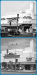 Sontag Drug Store, 1941/Wilshire Beauty Supply, 2013. Top photo: The Sontag Drug Store, located at the northwest corner of Wilshire Boulevard and Cloverdale Avenue, 1941. It was designed by Anderson and Norstrom in the Art Deco style and completed in 1935. (Photographer: Richard Stagg; USC Digital Library.)