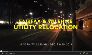 Utility Relocation Video Screen Shot